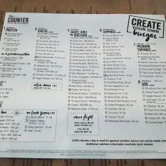 The counter menu
