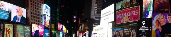 Time square nuit